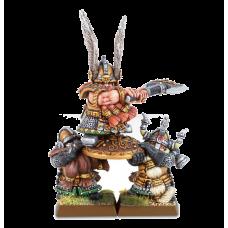 Warhammer: Dwarf Lord and Shieldbearers
