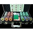 Набор для покера 300 фишек The Crown (В черном кейсе)