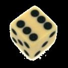 """Кубик D6 """"Простой"""" 12мм"""