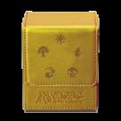 Коробка для карт: Ultra-Pro кожаная (золото)