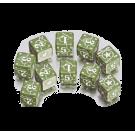 """Набор кубиков """"Военные USA"""" (D6, Зелено-белые, 10 шт)"""